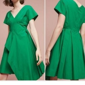 NWT anthropologist emerald green dress
